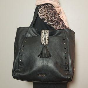 Nine West Boho Studded  Shoulder & Strap in Black